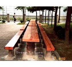 인조목 테이블 & 벤치 세트